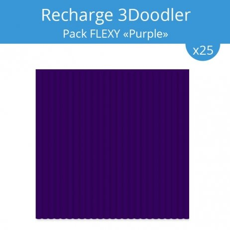 "Recharge 3Doodler : pack Flexy ""Purple"""
