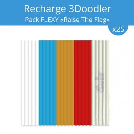 Recharge 3Doodler : pack Flexy Raise the Flag