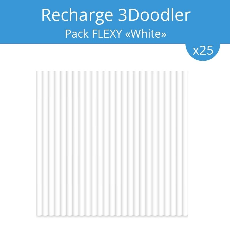 recharge 3doodler pack flexy white acheter sur. Black Bedroom Furniture Sets. Home Design Ideas