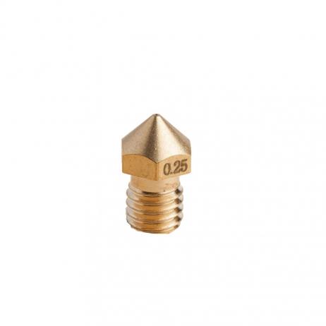 Single 0.25mm brass nozzle