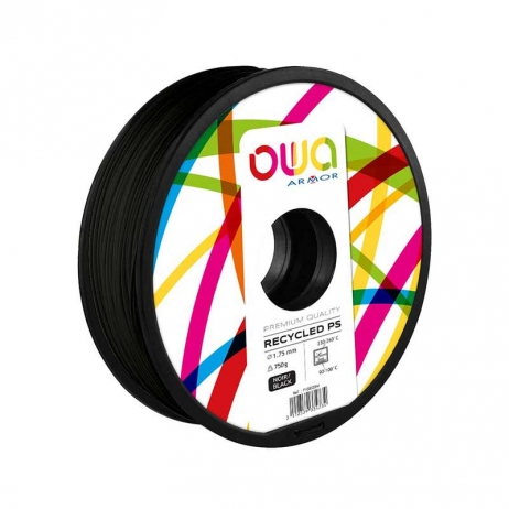 Filament recyclé PS noir OWA